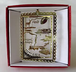 Indiana Christmas ORNAMENT State Travel Souvenir Gift