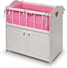 Storage Doll Crib with Bedding and Free Personalization Kit (fits American Girl Dolls)