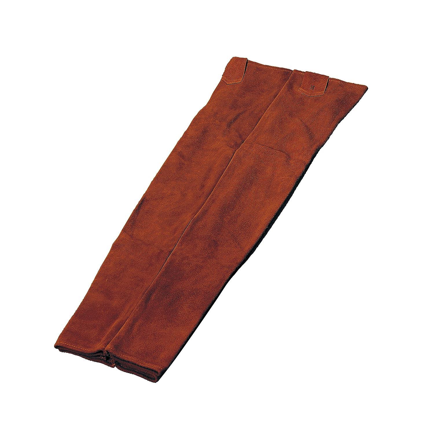 無効機密懐疑的ブラウン本革 床革ズボン 溶接用作業着 溶接用ズボン Lから4Lサイズ (LL)