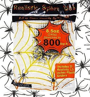 JOYIN 8.5 oz Super Stretch Spider Web (Stretch to 800 Square Feet) with 72 Pack 1.5