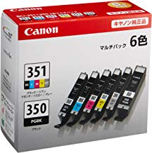Canon 純正 インク カートリッジ BCI-351(BK/C/M/Y/GY)+BCI-350 6色マルチパック BCI-351+350/6MP