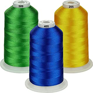 Simthread - 26 Selections - Various Assorted Color Packs of Polyester Embroidery Machine Thread Huge Spool 5500Y for Sewing Embroidery Machines - Essential Color 2