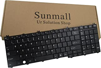 SUNMALL Laptop Replacement Keyboard for Toshiba Satellite Pro C650 C655 C650D C675D B350 T350 L650 L650D L655 L655D L670 L670D L675 L675D L750 L750D L755 L755D L770 L770D L775 L775D Series US Layout