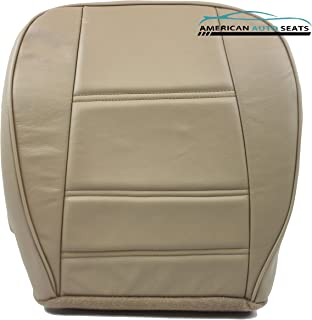 Us Auto Upholstery compatible with 2003 2004 Ford Mustang V6 Convertible DRIVER Side Bottom Leather Seat Cover GRAY