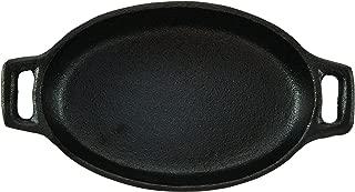 CasaModa 5190350 Pre-Seasoned Cast Iron Mini Au Gratin Oval Baker, 5.75-Inch-by-3.75-Inch