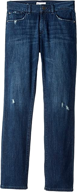 DL1961 Kids - Mid Wash Slim Leg with Mild Distressing Jeans in Lodi (Big Kids)