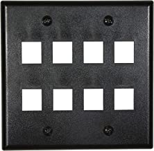 Networx Keystone Wall Plates (8 PORT, BLACK)