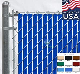 Fence Source Wave Slat™ (9 Colors) Single Wall Bottom Locking Privacy Slat for 4', 5', 6', 7' and 8' Chain Link Fence (5 ft, Royal Blue)