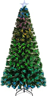 WeRChristmas Colour Changing Fibre Optic Christmas Tree with Controller, Multi, 6 feet/1.8m