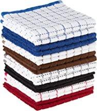 Dish Cloths Pack, Set of 16 Kitchen Wash Towels, Cleaning/Drying by Lavish Home, 16 Pack
