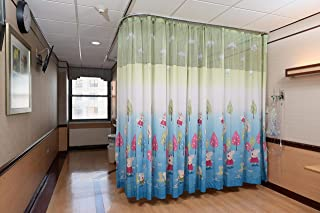 Custom Drapery Hospital Bed Divider Cubicle Curtain, Professional Medical Privacy Curtain with Grommets Flame Resistance (19' W x 7' L)