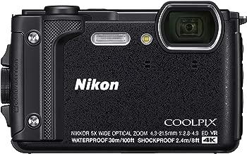 Nikon W300 Waterproof Underwater Digital Camera with TFT LCD, 3in, Black (26523) (Renewed)