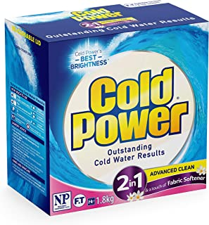 Cold Power Advanced Clean, 2 in 1 Powder Laundry Detergent, 1.8kg, Suitable for Front and Top Loaders