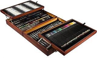 Mont Marte Kit Peinture Premium Deluxe - 174 pièces - Set de Dessin de haute qualité dans un élégant coffret en bois - Set...