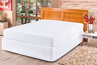 Protetor de Colchão Impermeável, Casal, 1.88m x 1.38m x 30cm, Tecido, Branco, Bia Enxovais