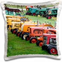 3dRose pc_95058_1 Vermont, Manchester Antique Farm Tractor-US46 WBI0005-Walter Bibikow-Pillow Case, 16 by 16