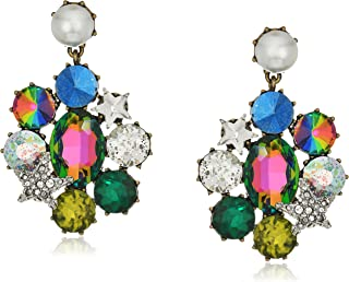 Betsey Johnson Mystic Baroque Queens Multi-Stone and Pearl Drop Earrings