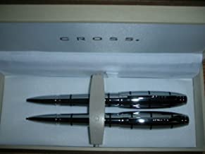 Cross Dubai Chrome with Black Strpies Pen and 0.9mm Pencil Set AT0271-1