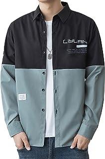 [EZATING] シャツ メンズ 長袖 七分袖 オックスフォード カジュアル ファッション ビジネス シンプル 速乾 吸汗 通気性 涼しい 大きいサイズ 春 夏 秋 冬