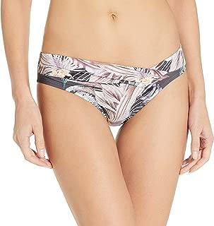 BCBGMAXAZRIA Women's Asymmetrical Hipster Bikini Swimsuit Bottom