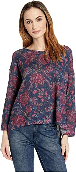 Floral Print Oversize Top