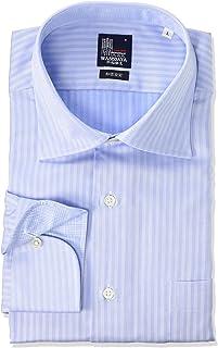 [ワセダヤシャツ] ワイシャツ 日本製 早稲田屋 ドレスカジュアル 長袖シャツ ワイドカラー 綿100% 形態安定 ノーアイロン レギュラーフィット メンズ