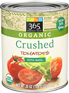 365 Everyday Value, Organic Crushed Tomatoes with Basil, 28 oz