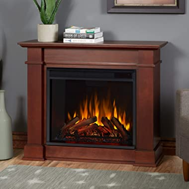 Real Flame Dark Espresso Devin Electric Fireplace, Small