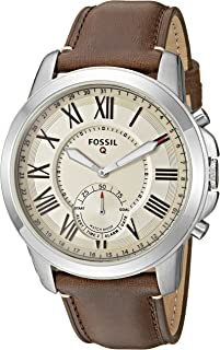 Fossil Men's  FTW1118 Q Grant Gen 2 Hybrid Smartwatch Dark Brown Leather Watch