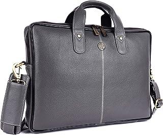 Hammonds Flycatcher Original Bombay Brown Leather 15.6 inch Laptop Messenger Bag|Padded Laptop Compartment|Office Bag (L=1...