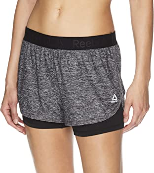 Reebok Women's Cardio Running Shorts w/ built in Compression