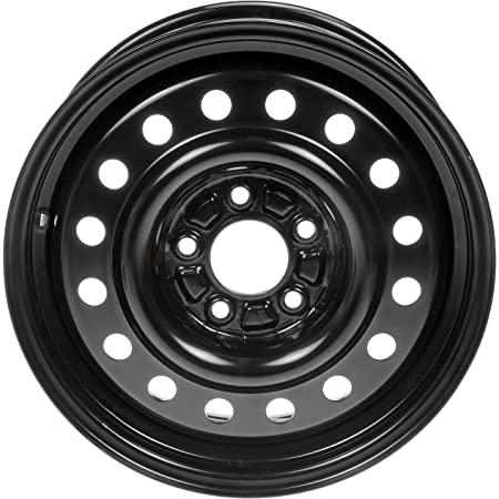Dorman Black Wheel with Painted Finish (16 x 6.5 inches /5 x 115 mm, 51 mm Offset)