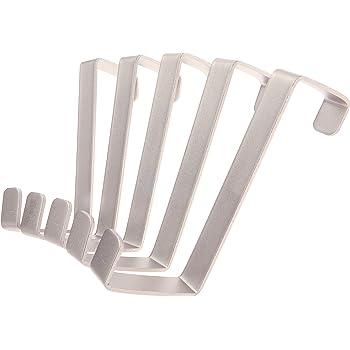 10 ganchos Perchero para puerta Premier Housewares cromo