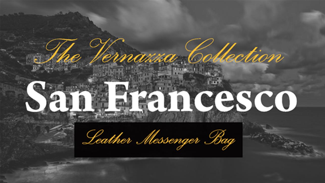 Siamod 45355 San Francesco Napa Cashmere Leather Messenger Bag Black