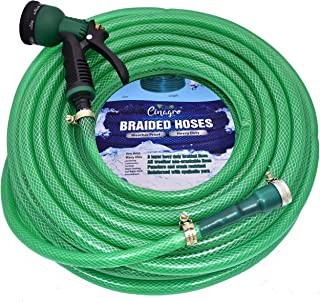 CINAGRO™ - Heavy Duty 3 Layered Braided Water Hose Pipe (Size : 1/2 inch - Lenght : 20 Meters) with 8 Mode Sprayer Nozzle, Garden, Car Wash, Floor Clean, Pet Bath, Easy to Connect