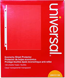 Universal Top-Load Poly Sheet Protectors, Economy, Letter, 100/Box (21130)