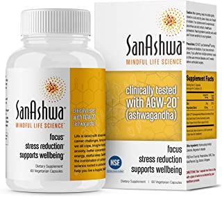 Sponsored Ad - SanAshwa® -Ashwagandha with Tulsi High Potency 60 Vegetarian Capsules for-Anxiety Stress Relief Restful Sle...