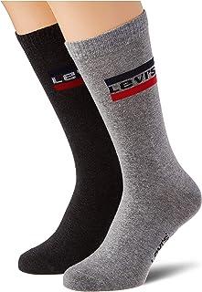 Levi's Unisex Sportswear Logo Regular Cut Socks (2 Pack) Chaussettes Mixte