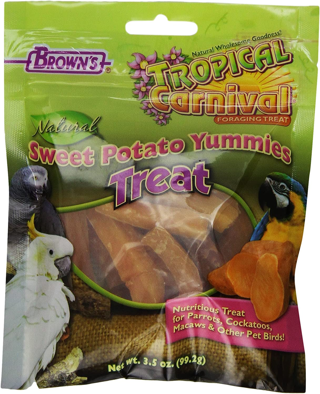 F.M.Brown's Tropical Carnival Natural Sweet Potato Yummies, 3.5Ounce Package