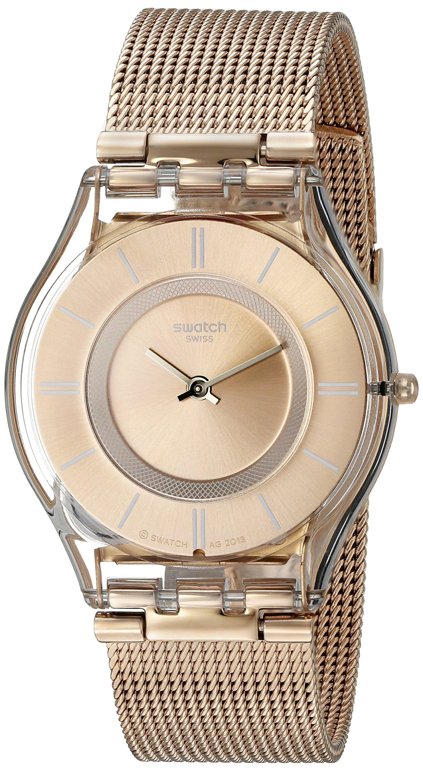 Swatch Womens SFP115M Gold Tone Watch