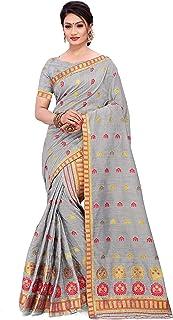 SKiran's Assamese Weaving Bhagalpuri Cotton Mekhela Chador Saree - Dn 7166 Mekhla Sador (Grey)