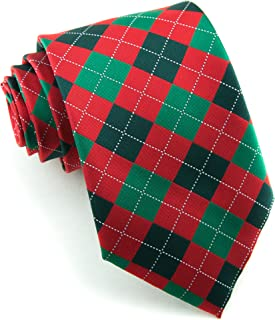 Littlest Prince Couture Scarlet & Pine Argyle Youth Necktie