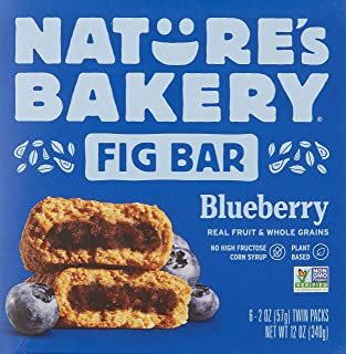 Nature's Bakery Bar, Bluberry Fig, 56.7g (Pack of 6)