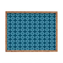 Deny Designs Khristian A Howell Moroccan Mirage Blue Indoor/Outdoor Rectangular Tray, 17 x 22.5