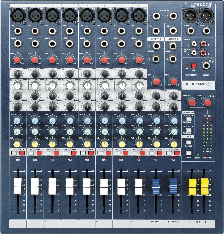 EPM6 Soundcraft Mixer Unpowered 6 2 channels