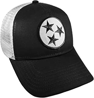 Strange Cargo Tennessee Flag Black and Grey Curved Brim Cap Hat Snapback Adjustable