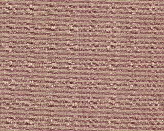 Patch Magic Fabric Crib Dust Ruffle, Red/Beige Ticking