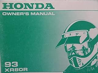 1993 Honda XR80 Owners Manual 93 XR 80