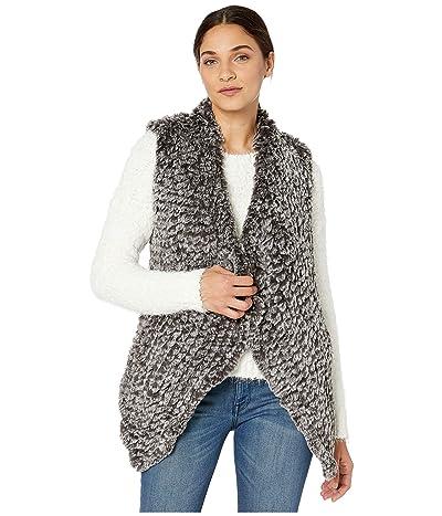 Love Token Kiera Faux Fur Vest (Charcoal) Women