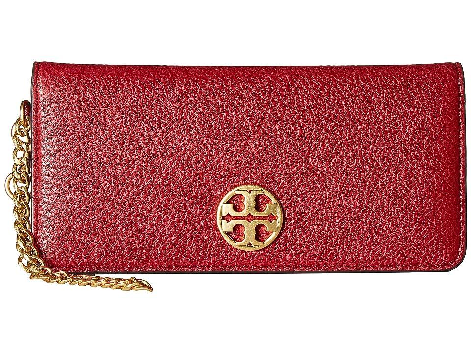 Tory Burch Chelsea Wristlet Envelope (Redstone) Wristlet Handbags